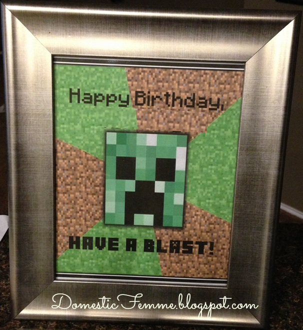 Domestic femme may 2013 minecraft birthday party creeper meme parties birthdays diy character characters solutioingenieria Images