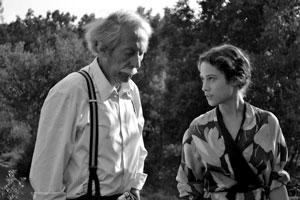Jean Rochefort y Aida Folch en El artista y la modelo