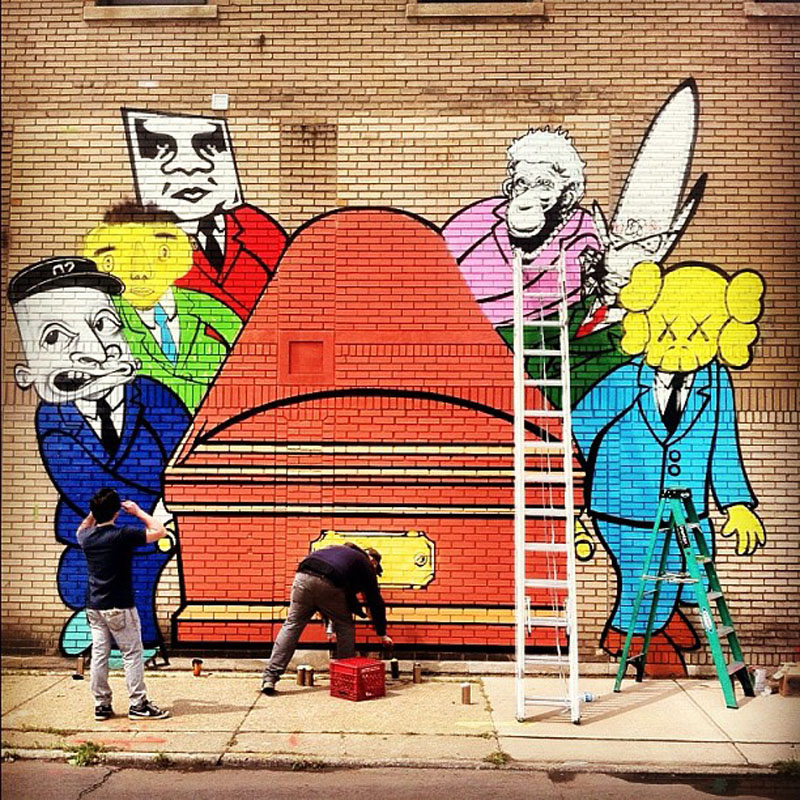 Kaws Street Art