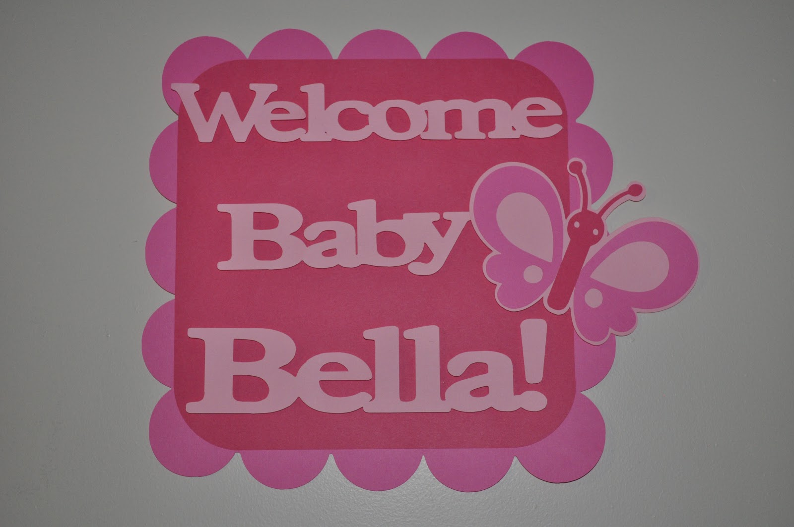 creations butterfly baby shower welcome signs