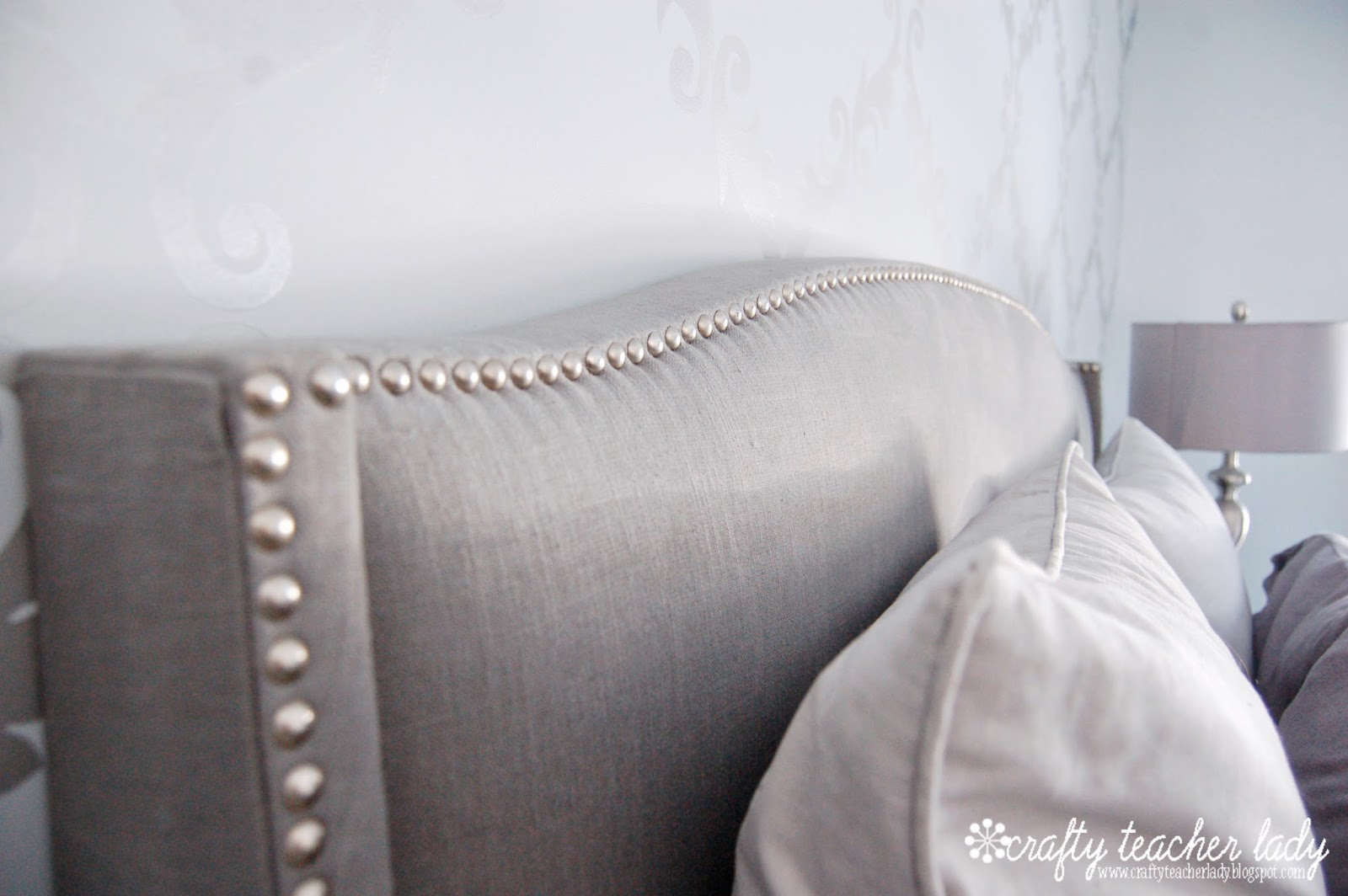 Crafty teacher lady february 2014 nailhead trim upholstered headboard solutioingenieria Image collections