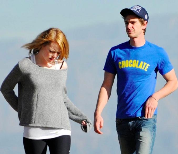 Emma Stone Boyfriend Andrew Garfield Pictures 2012