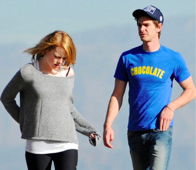 Emma Stone Boyfriend Andrew Garfield Pictures 2012 | Hollywood Stars