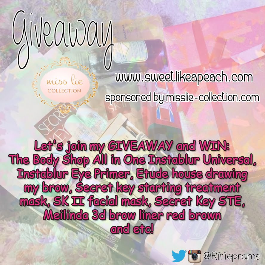 Giveaway Sweet Therapy by Ririe - Sponsored by missle collection