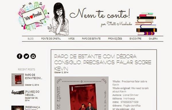 blog, Nem te conto!, Thati Machado, Ponte de cristal, livro