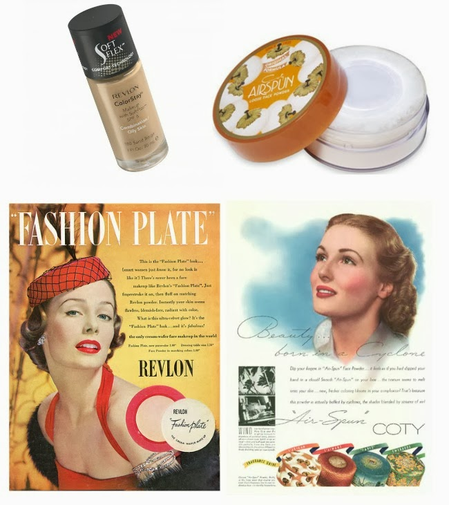 vintage face makeup Revlon and Coty Airspun Powder
