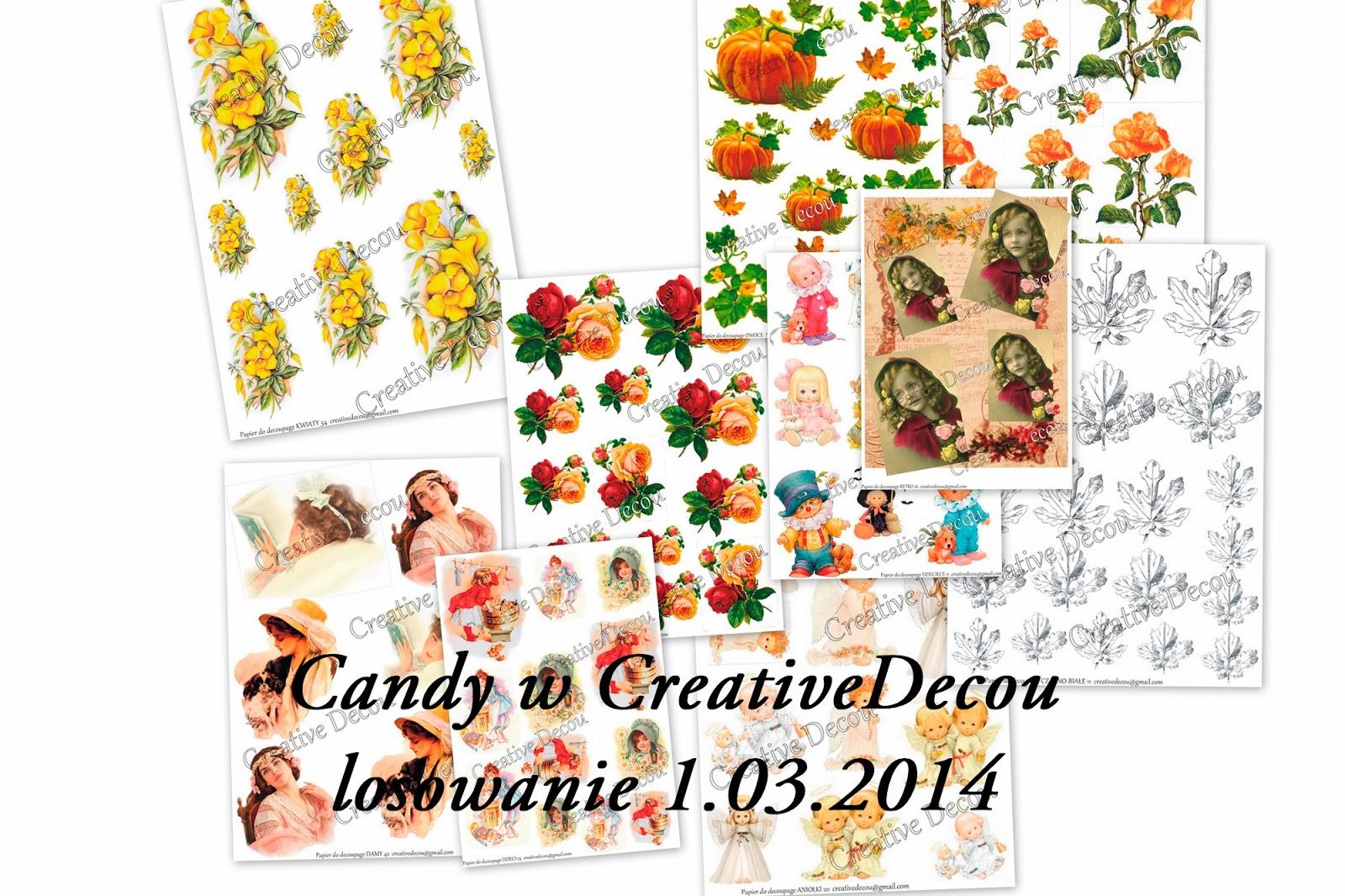 Wygrałam pocieszajkę! :) CreativeDecou - Candy [01.03.2014]