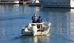 How neat to see a grandpa and his grandson enjoying time together on the water!