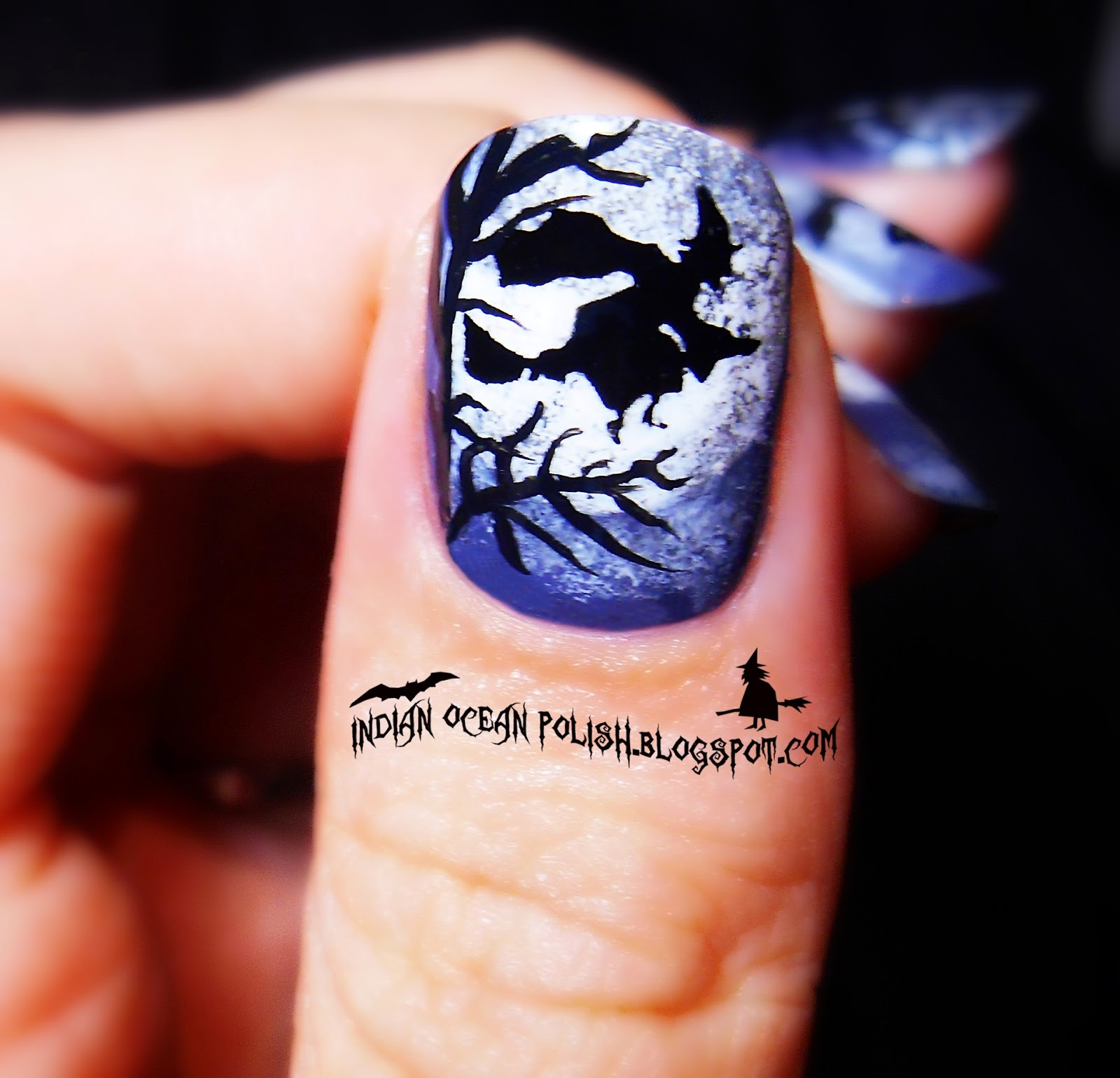 Halloween Moon Nail Art: Michael myers halloween nail art decals by ...