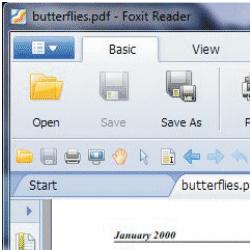 capture d'écran de Foxit Reader