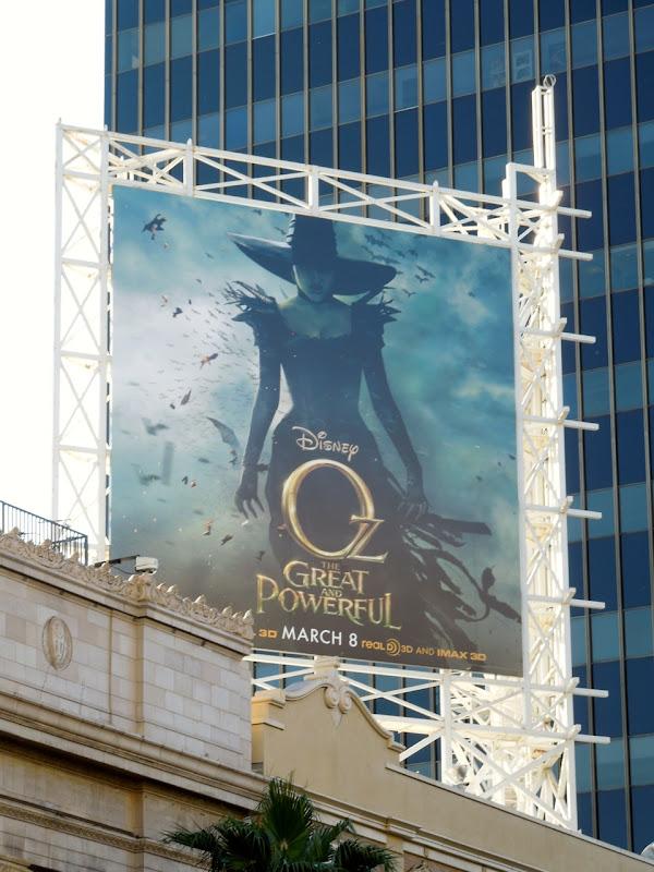 Disney Oz Great Powerful movie billboard