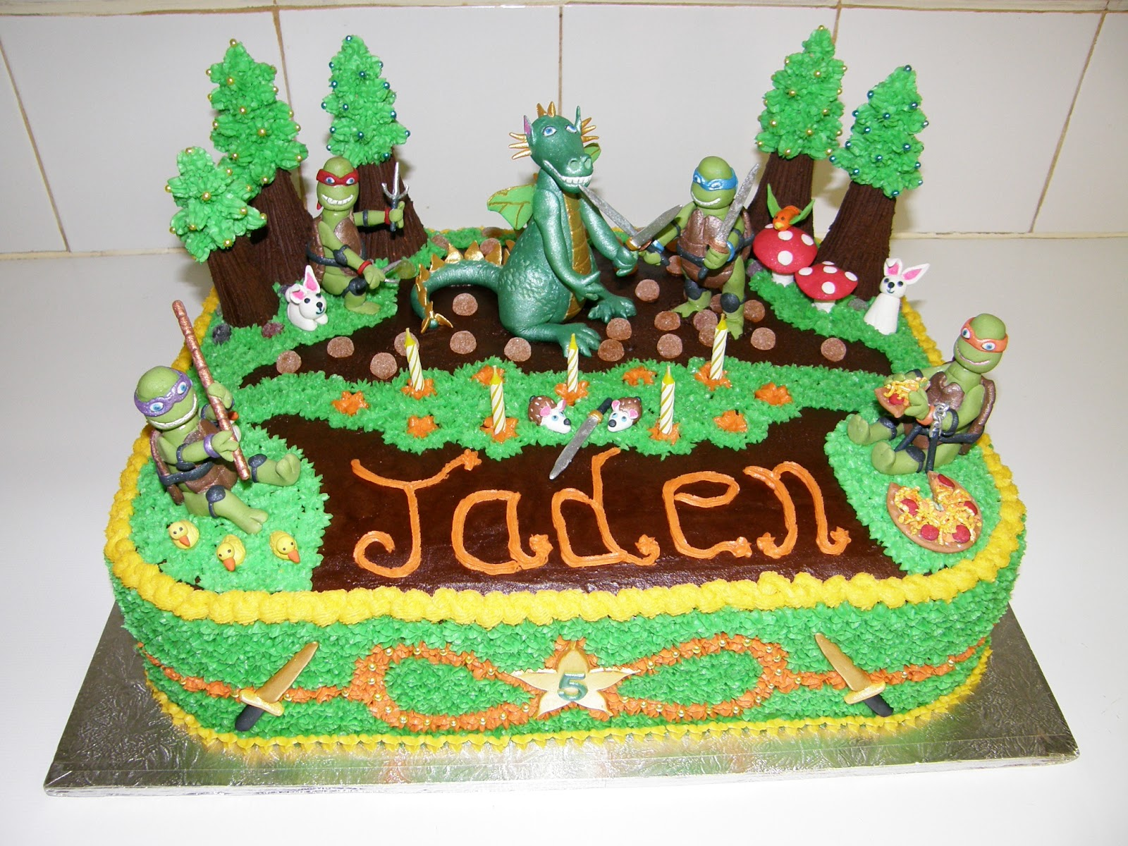 Its My Party Teenage Ninja Turtle Birthday Cake