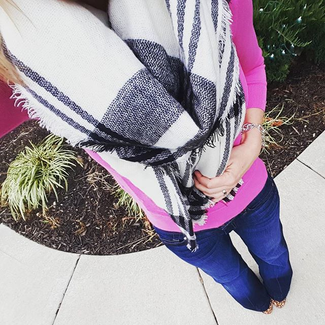 Banana Republic Factory Sweater (similar) // 7 For All Mankind Dojo Jeans // Jessica Simpson Leopard Wedges (similar) // Merona Scarf (also available at ILY Couture) // Anne Klein Link Bracelet (similar)