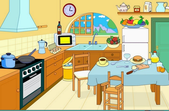 Imagenes para describir exploring english by patricia oliver for Dibujos sobre cocina