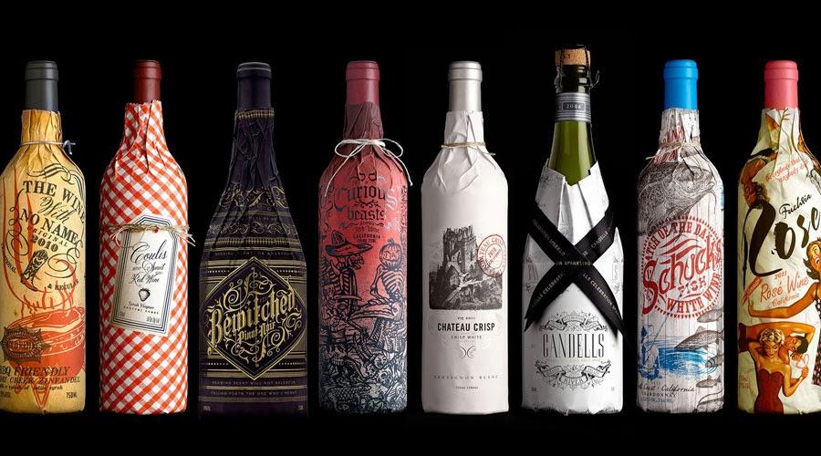design marketing branding etichette vino bottiglia confezione