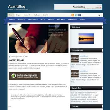 AvantBlog blogger template. template blogspot magazine style. download free template for blogger