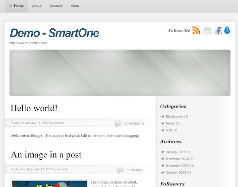 Smart One Blogger Theme