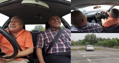 chef wan belajar memandu kereta manual untuk kali pertama