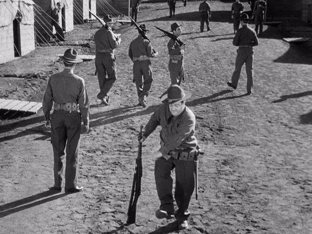 bad posture of Lou Costello in Nuck Privates