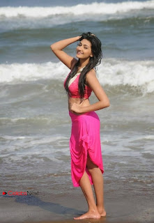 Actress Neelam Upadhyay  Wet Picture Gallery in Pink Bikini Top  0057