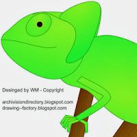 Kameleon Inkscape lijntekening