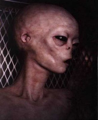 Foto de un alienígena extraterrestre en algún hospital. Se puede notar que está casi moribundo. Dicen que así lucía el verdadero rostro de Jesús de Nazaret | Ximinia