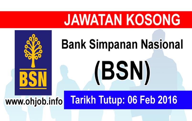 Jawatan Kerja Kosong Bank Simpanan Nasional (BSN) logo www.ohjob.info februari 2016