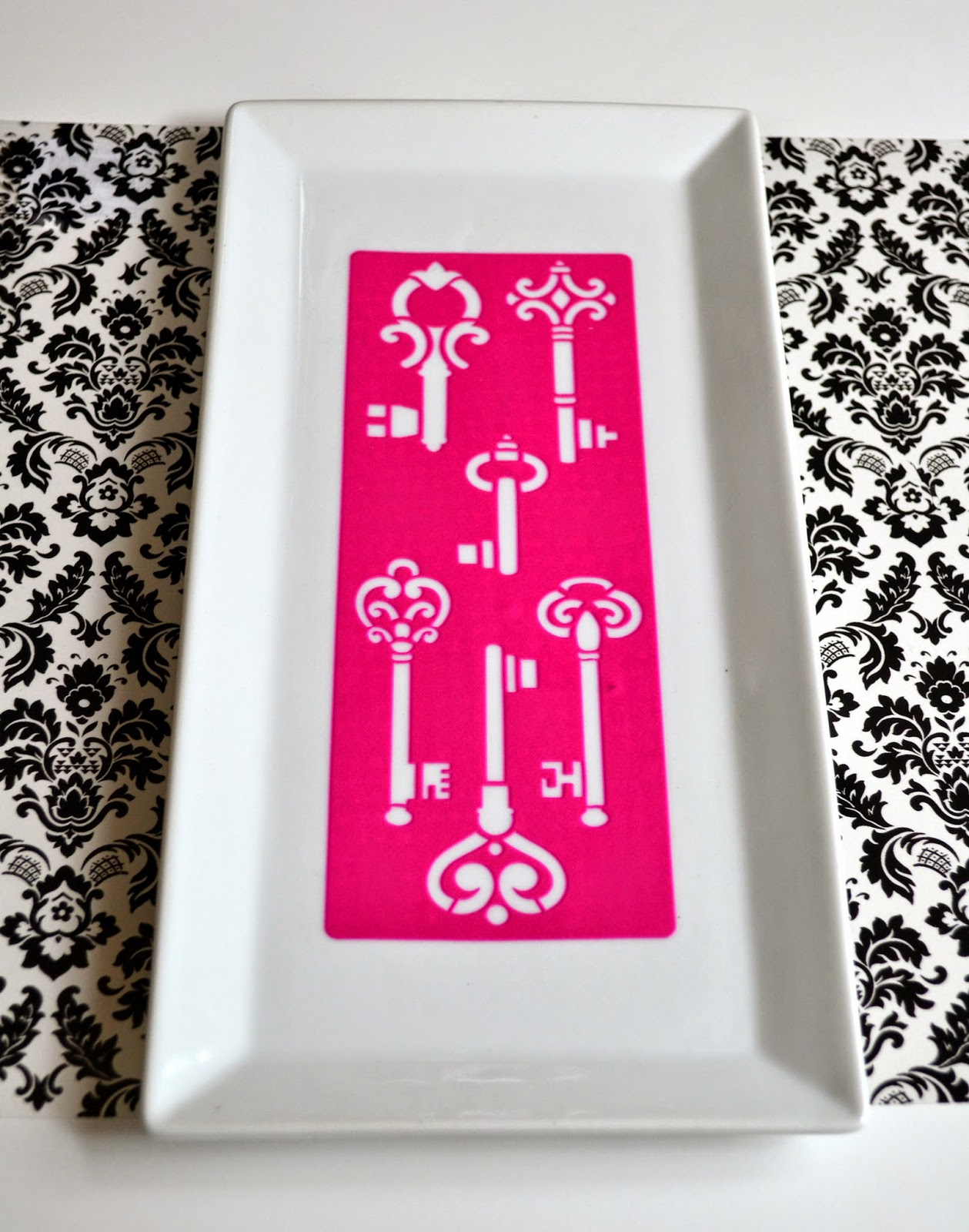 mod podge rocks peel and stick stencil diy project