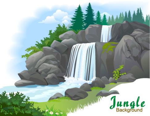 Jungla - ilustraciones vectoriales - 4