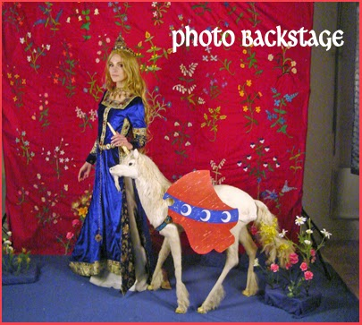 Séance photo Backstage Coulisse Moyen Age médiéval La Dame à La Licorne Séance Photos Tapisserie The Lady and the Unicorn French Medieval Tapestry Mille Fleurs Photoshooting Fashion renaissance