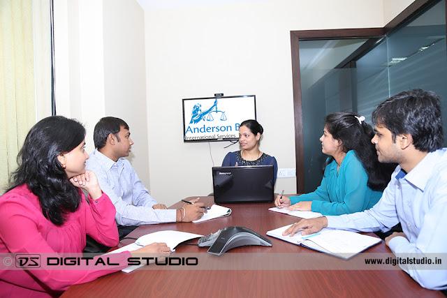 Executive Corporate meeting with progress