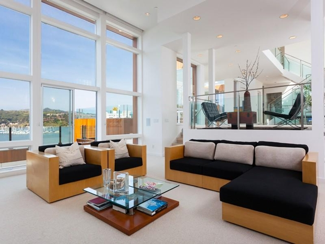 Photo of modern living room furniture