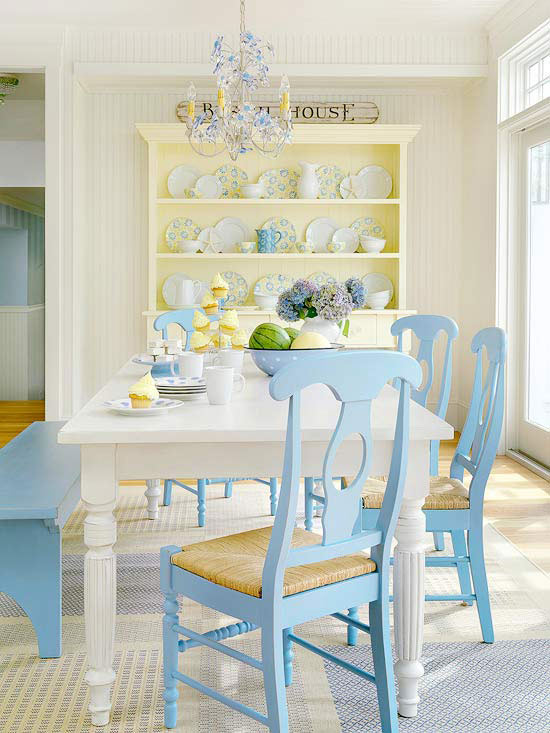 Mix and chic cottage style decorating ideas for Cottage style kitchen chairs