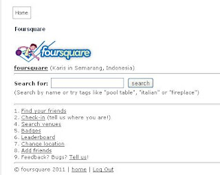 Cara Check In di Foursquare Lewat Laptop atau Komputer ~ Personal blog