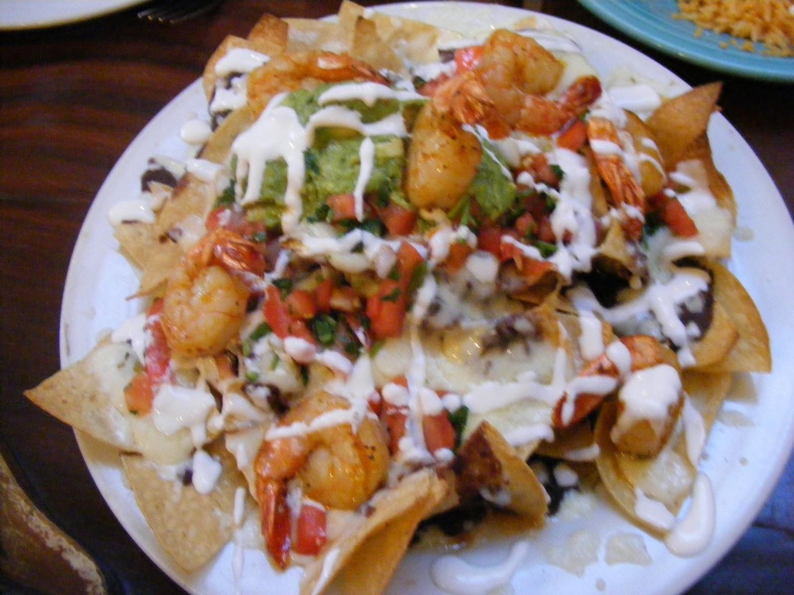 """In Love with Nachos: """"Shrimp Nachos"""" Los Agaves (Santa Barbara, CA)"""