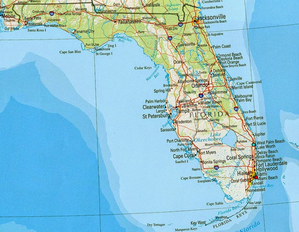 Floridan kartta