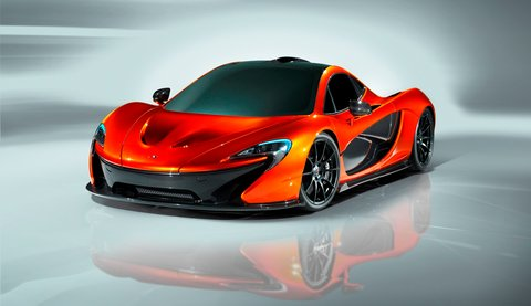 McLaren publicity photo of new McLaren P1