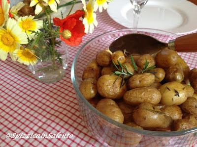 patate sieglinde (baby) al forno-in agrodolce