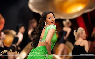 Sonakshi Sinha Hot Green Saree Po Po Song Wallpapers