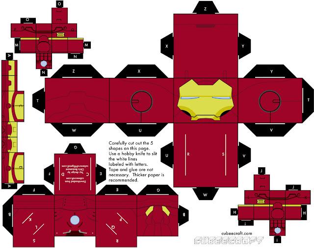Papercraft Homem de Ferro para montar