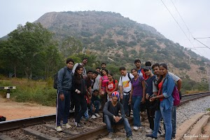 Makalidurga trekking group photo