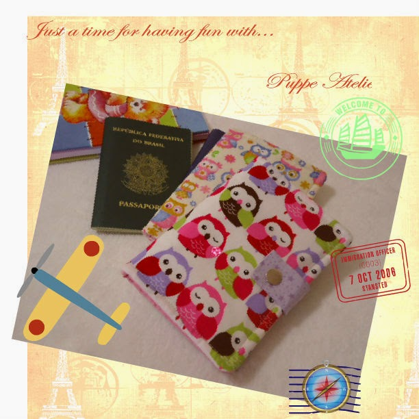 porta passaporte de tecido