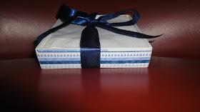 Porta guardanapo chá azul