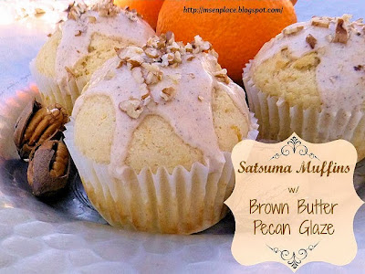 Satsuma Muffins with Brown Butter Pecan Glaze | Ms. enPlace