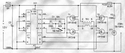 Inverter 12/220 V  Circuit Diagram