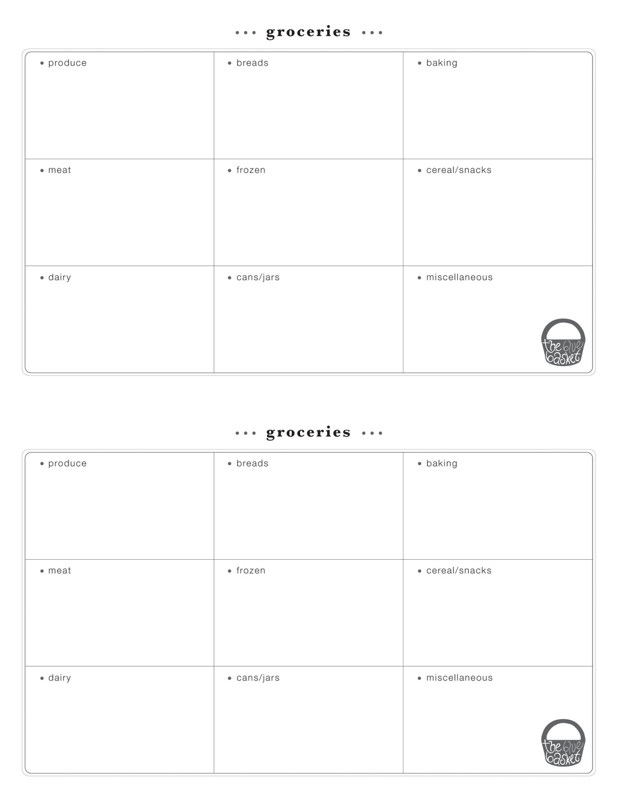 Grocery List Pad Grocery list pad on my