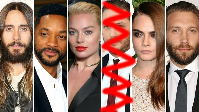 jared leto will smith margot robbie tom hardy jai courtney cara delevigne suicide squad warner bros dc comics david ayer