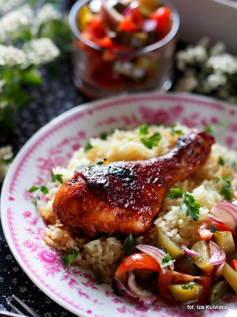 kurczak , udka pieczone , w marynacie , obiad