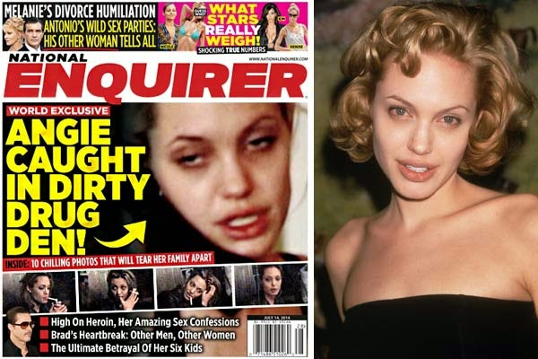 Photos of Angelina Jolie's past heroin and cocaine addictions revealed