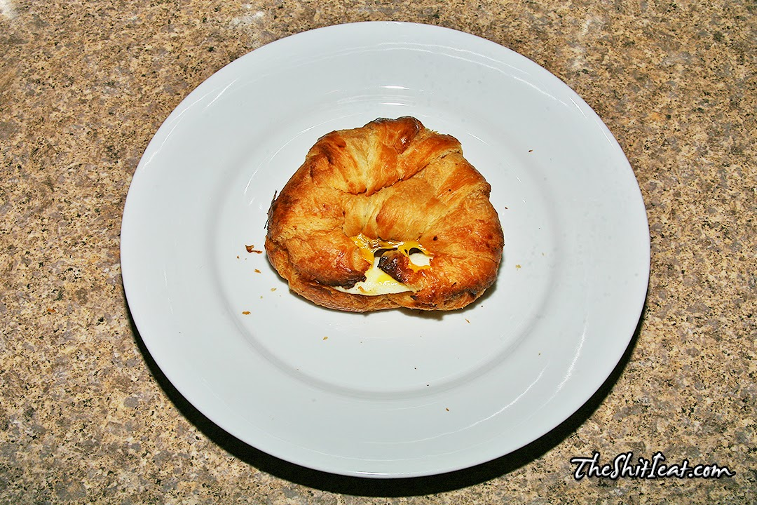 dunkin donuts sausage egg & cheese on croissant